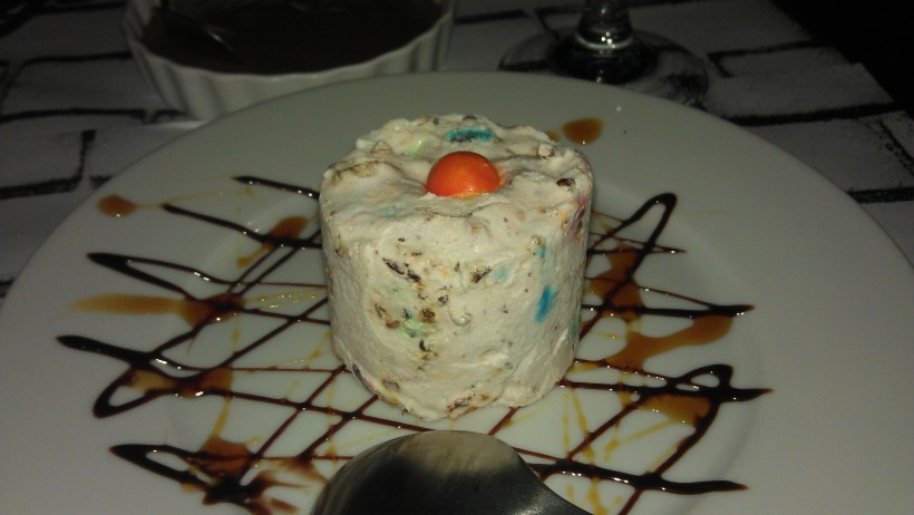 M&M nougat ice-cream