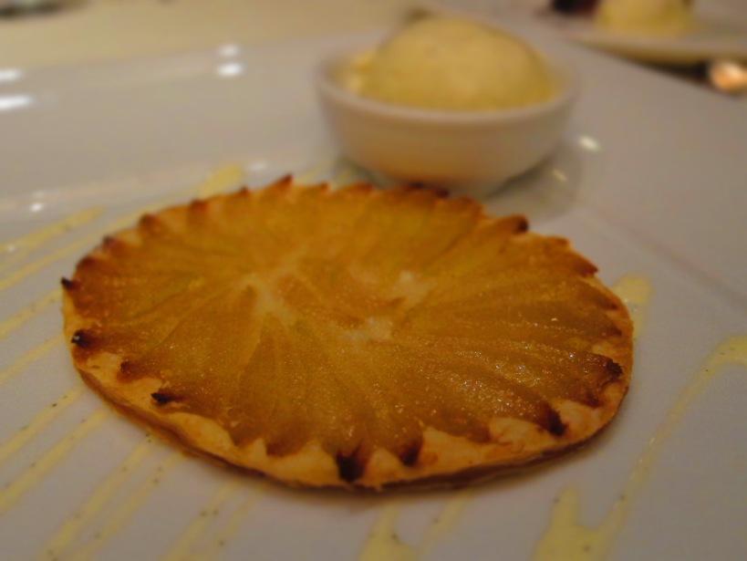 Pear Tart with Vanilla Ice-cream