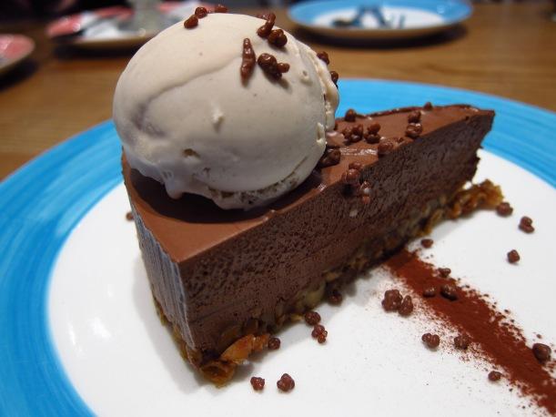 Nonna chocolate cake with gelato