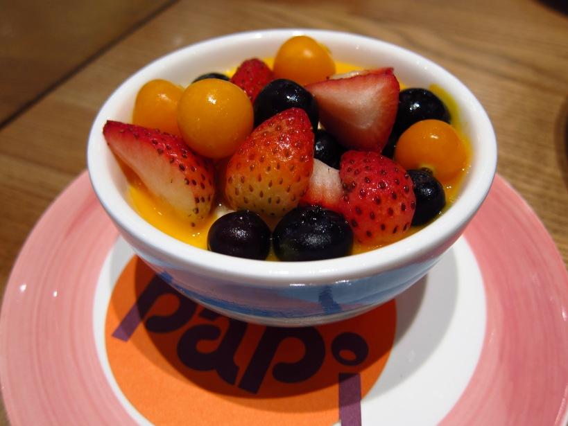Panna cotta with fresh wild berries