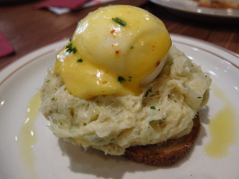 Home-salted brandade and soft egg with Espelette Hollandaise sauce