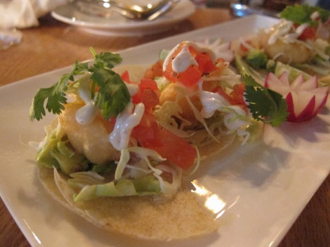 California tacos with Baja fish