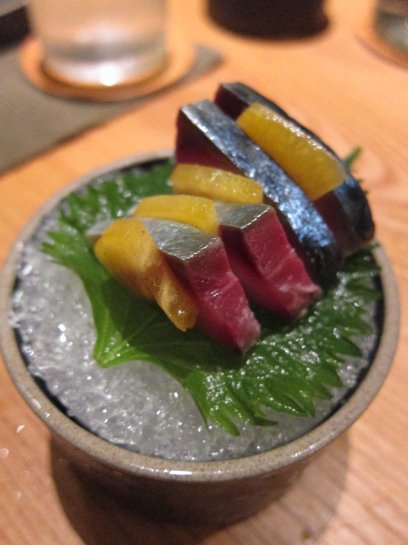 Saba mackerel sashimi