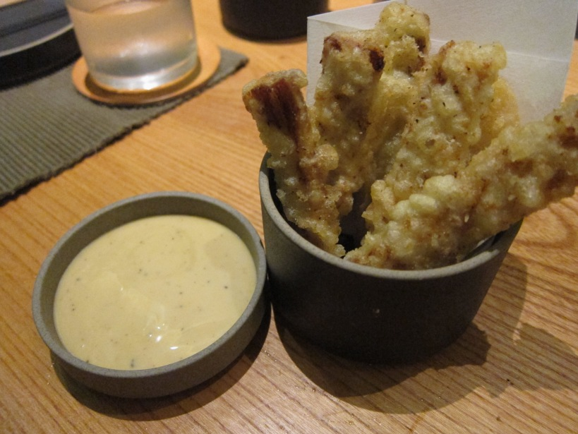 Silver beltfish tempura