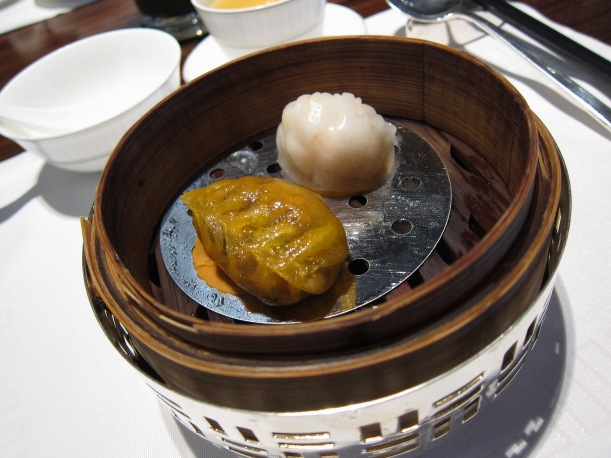 Steamed Dim Sum- mushroom and celery dumpling and shrimp and bamboo dumpling
