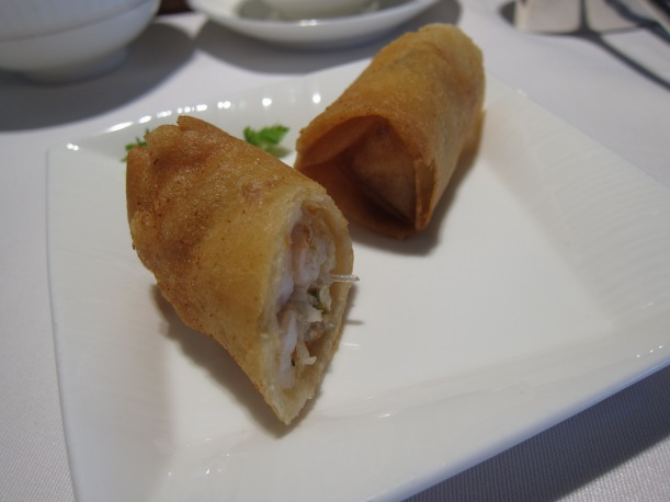 Crispy Spring Roll with Shrimp and Hairy Gourd