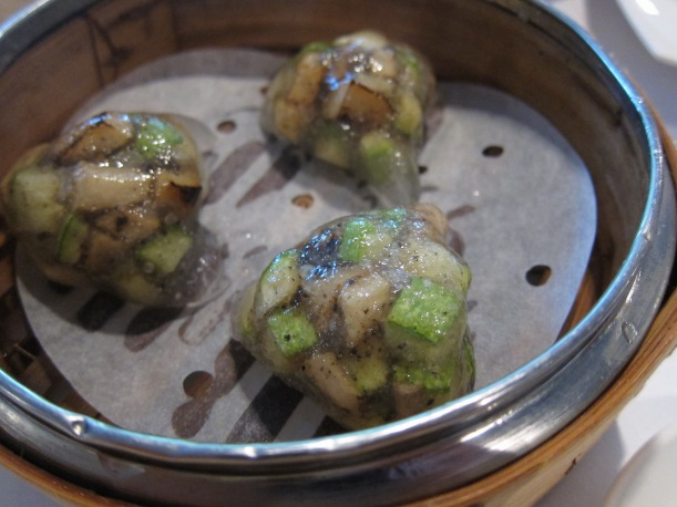 Steamed wild mushroom and black truffle dumpling