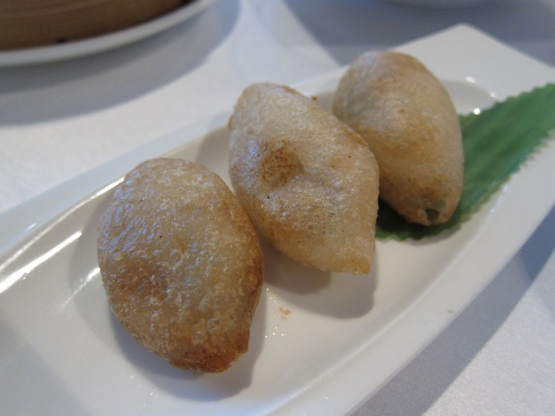 Crispy glutinous rice dumplings with diced pork