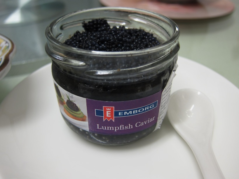 Caviar to go with our smoked egg