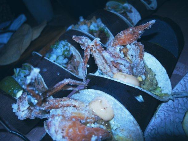 Soft shell crab taco