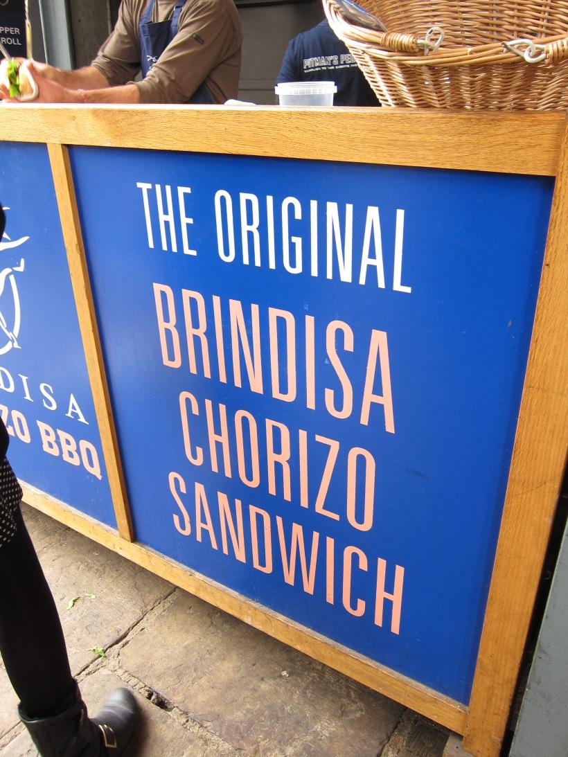 Brindisa chorizo sandwich