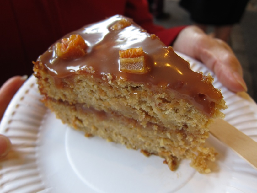 My Parsnip, Pear and Sea-Salt Caramel slice
