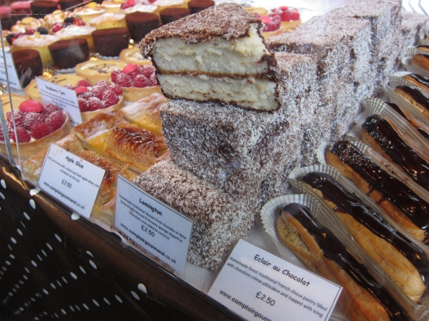 Lamingtons and eclairs and cakes galore