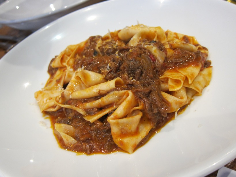 Hand-cut pappardelle with slow braised beef