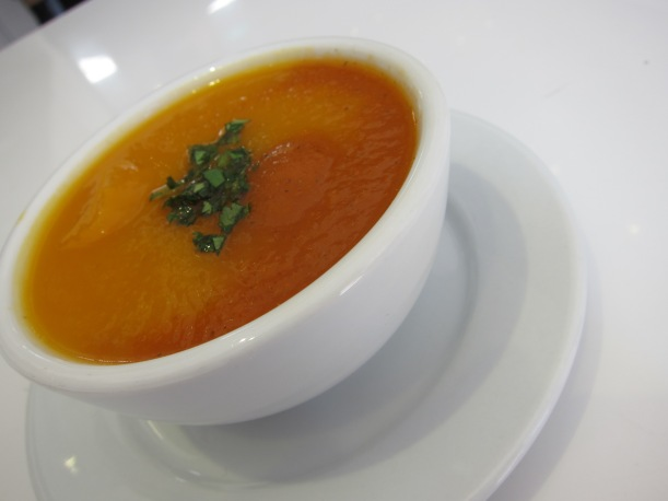 Cream of Pumpkin and Red Pepper soup