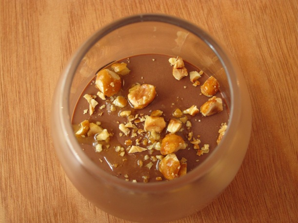 Chocolate Cream with Caramelized Nuts