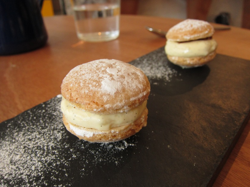 Dacquoise with Vanilla Cream and Nougatine