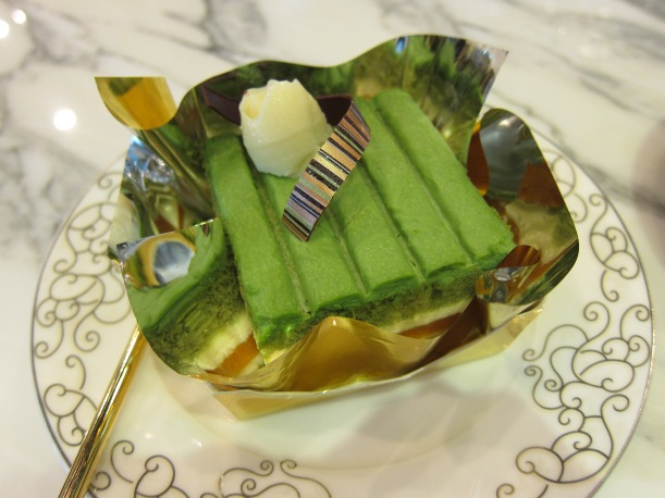 Green Tea and Mandarin Orange Jelly Cake