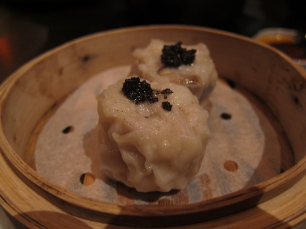 Kurobata pork, quail egg and black truffle siu mai