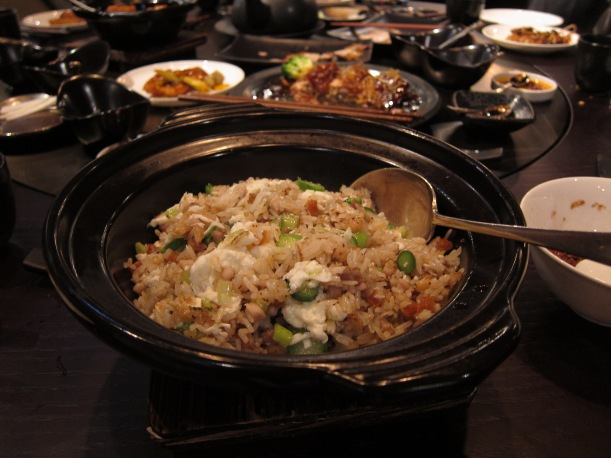 Fried Rice with Pork Belly, Preserved Vegetable and Egg