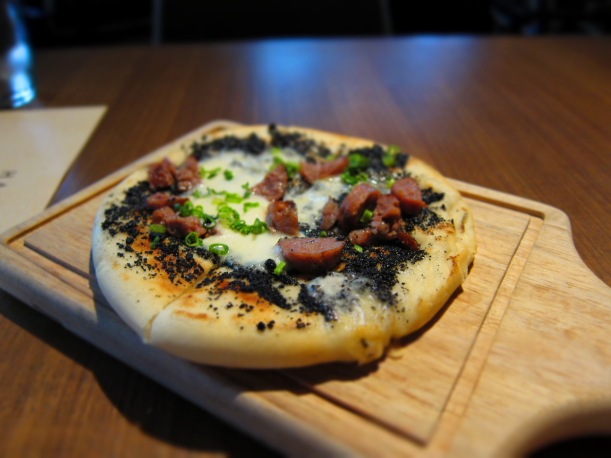 Black truffle, Taleggio and Sausage Pizza