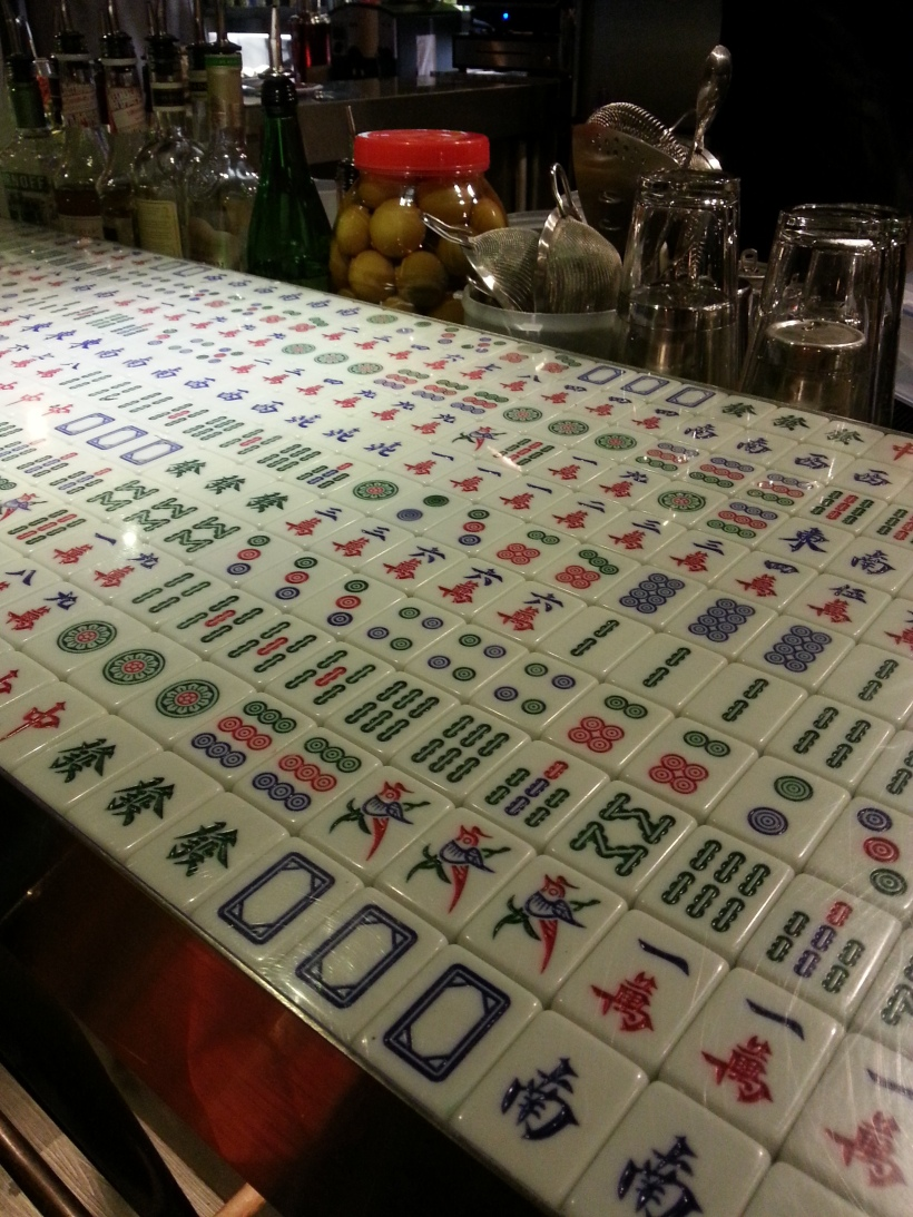 Mahjong tiled bar
