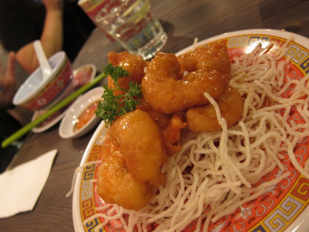 Boss' Honey Prawns