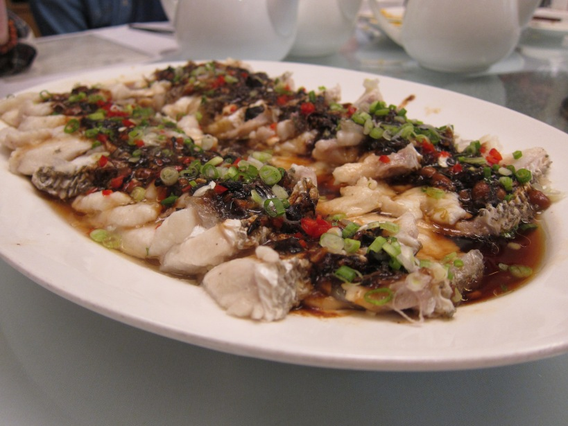 Steamed grouper fillet with fermented soy bean