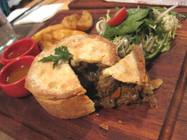 Dry-aged Steak, Ale and Wild Mushroom Pie