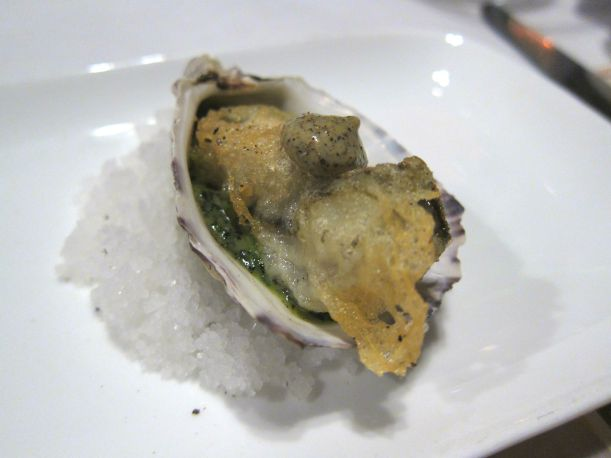 Truffle Fried Oyster- no words. Loved this. Black truffle aioli atop a freshly and delicately fried oyster? Genius.