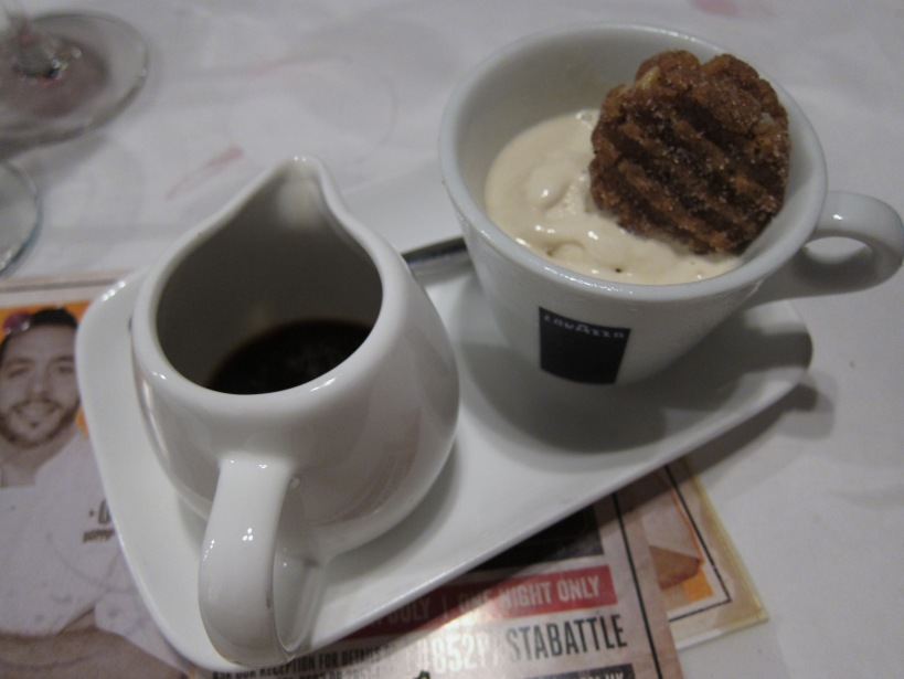 Yin Yang Affogato with Milk Tea gelato, Espresso shot and Peanut Butter cookie. Another DIY dessert here. This was a wonderful sweet ending to the meal. I would like a whole packet of those peanut butter cookies please.